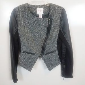 Girls Small Candies Polyester Moto Jacket
